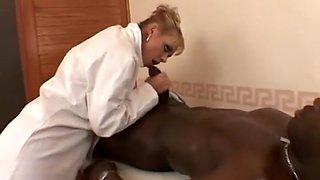 White nurse, black patient