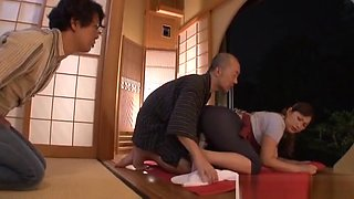 Reiko Shimura mature Asian housewife drilled with sex toys
