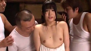 Best Japanese chick Mamiru Momone in Fabulous Oldie, Gangbang JAV movie