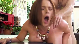 Busty Glamour Ginger Doggystyled By Masseur