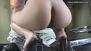 first sex of amazing romanian porn star honey demon