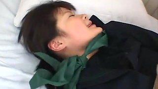 Horny Japanese slut Hina Komatsu in Amazing Interracial, Fingering JAV clip
