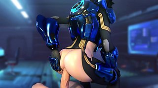 3D Animated Slutty Tracer from Game Overwatch Hard Fuck