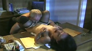 Sexy Babe Screams In Ecstasy While Pounded On Desk