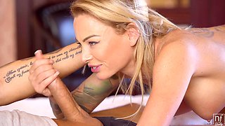 Passionate fucking on the bed with pierced nipples Isabelle Deltore