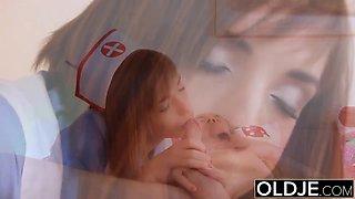 Old Young Porn Grandpa Fucks Teen Nurse best blowjob swallow