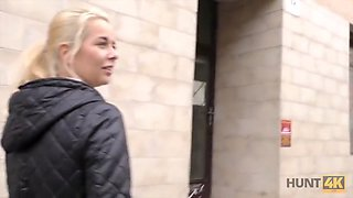 Hunt4k. blonde picked up by man who wanted to help her