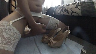 Cross-dressing in high heels