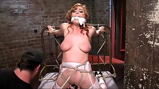 Tied up helpless anal