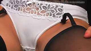 Black Satin Slip Strip and Tease