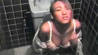 Babe rubs big boobs and masturbates on hidden spycam porno