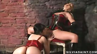Silvia Saint is a harsh mistress to her sexy submissive toy