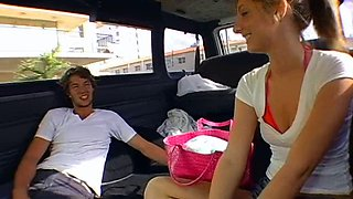 Amateur blonde darling wants to get rammed in the car