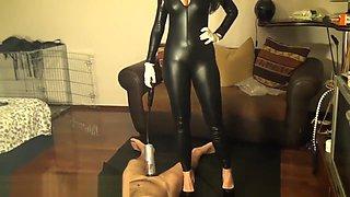 Human slave & penis pump by Mistress Antonella