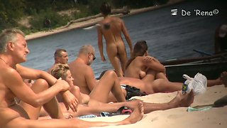 Young teen beach spy voyeur video