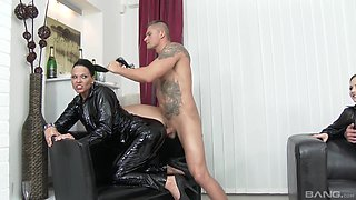 Kinky chain asshole eating with lascivious Simony Diamond and others