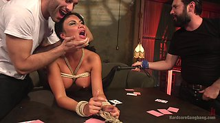 amazing Jasmine Jae adores man juice in her mouth during a group fuck