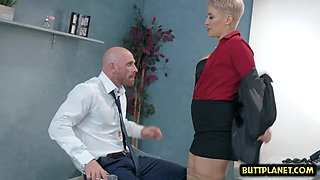 Big tits pornstar office sex with cumshot