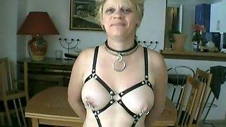 Exotic homemade Blonde, BDSM sex scene