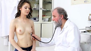 Ivy enjoys doctor hairy cock