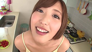 Asahi Mizuno fucks a guy before being filled with sticky semen
