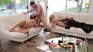 Double Delight Blonde Foursome Orgy