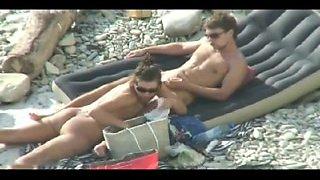Nudist Blowjob on the beach