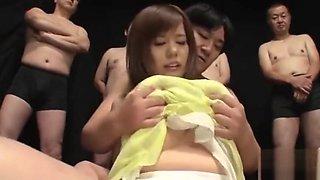 An Kitajima UNCENSORED gangbang Part 1 - Watch Part 2 on bigtittyvideos.com