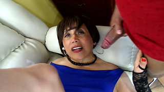Perverted and vicious secretary of anal and facial sex