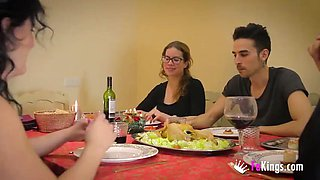 christmas family dinner witha a twist