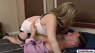 horny stepmom seducing and fucking her stepdaughters bf