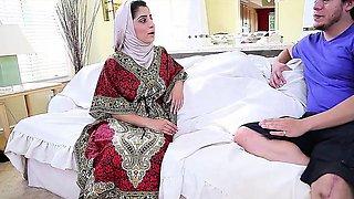 Dagfs  Arabic Chick Nadia Ali Tastes White Cock