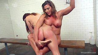 Exotic fisting, fetish xxx movie with crazy pornstars Karmen Karma and Ariel X from Whippedass