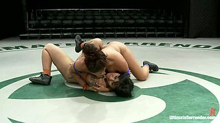 Isis Love Destroyed on the Mat! Made to CUM During Wrestling!Humiliated and Made to Squirt!