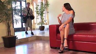Big tits milf on heels fucks good