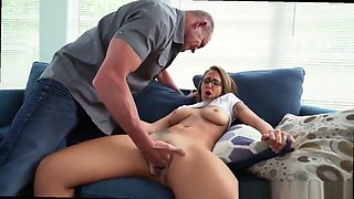 Complete porn movie Sneaking Around With Daddy's boss