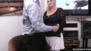heavy blonde bbw rides his hard flesh