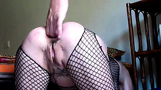 Extreme anal fisting and gigantic dildo insertions