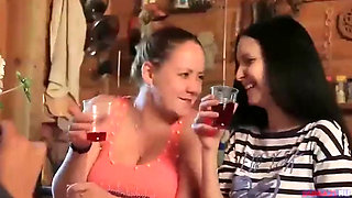 AMWF Solovieva Natasha Petrova Juicy Russian Woman Big Natural Pink Tits Red Head Farmer Wear Traditional Cloth Sarafan Doggysty