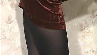 Amanda Long in tight red dress