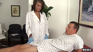 WANKZ Sexy Nurse Cassidy Helps Man Who Took Viagra