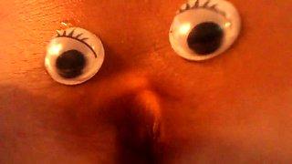 Webcam model goofing around