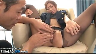 japanese assistant has to please her boss