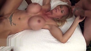 Threesome With Big-tits Busty Milf