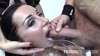 linda swallows 57 huge mouthful cumshots