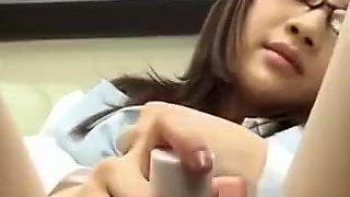 Rina Himekawa Asian doll and dildo