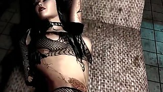 Animated - goth girl fucked and facial