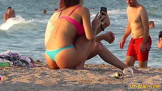 Voyeur Beach Hot Blue Bikini Thong Amateur Teen Video