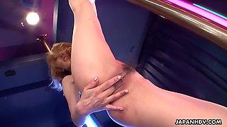 Tight and flexible asian babe sally yoshino gives striptease