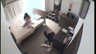 Private student home onanism voyeur